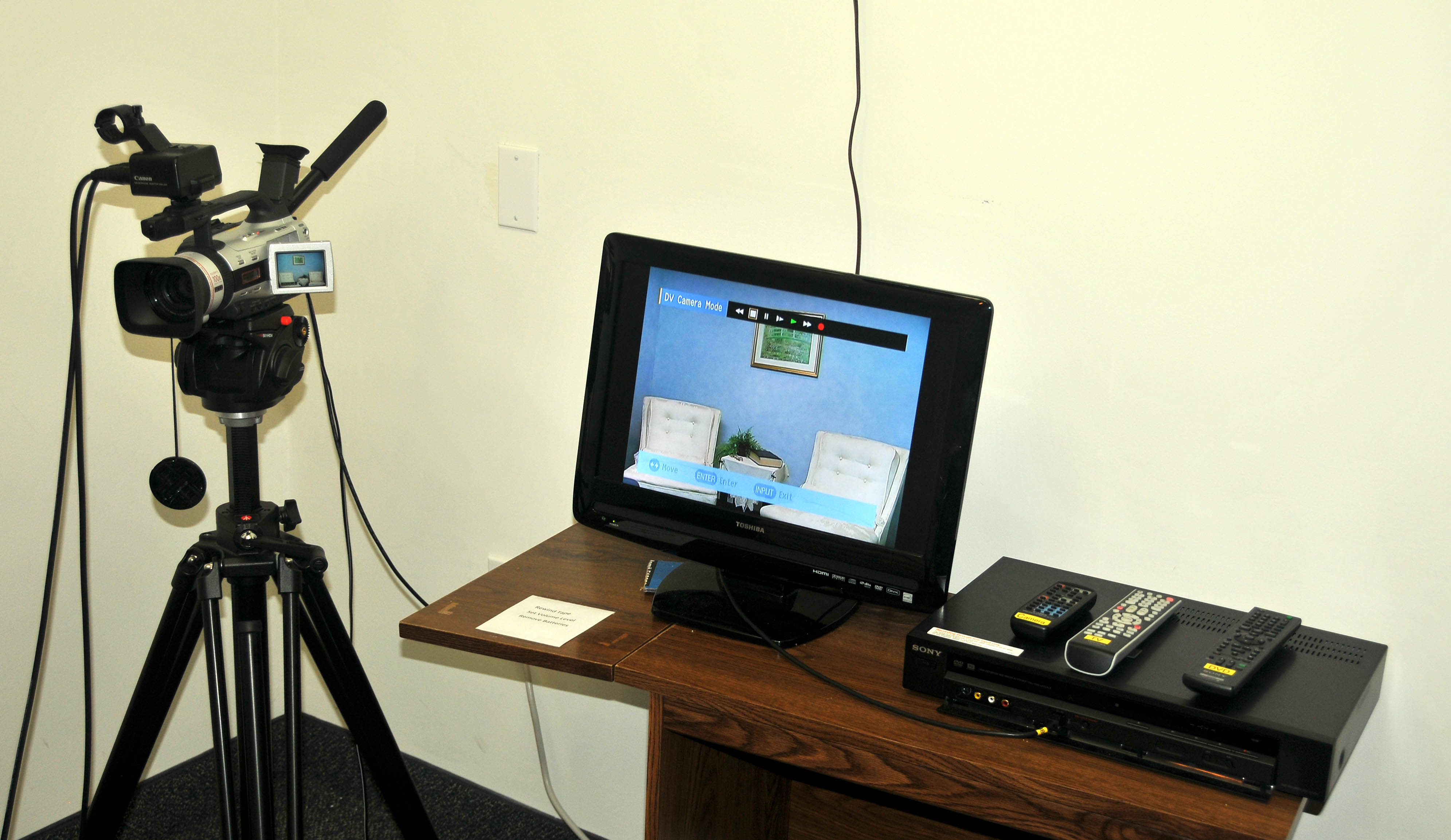 Oral History Room Washington Dc Family Library Recorder Camera